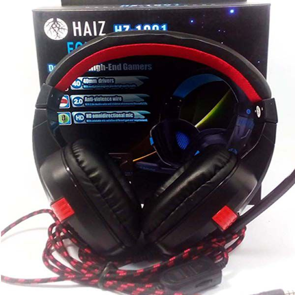Headphone Gamer Haiz Sigma 1901 Super Bass Microfone Corda