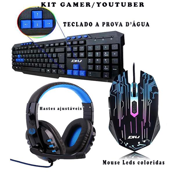 Kit Gamer Teclado Mouse Headset
