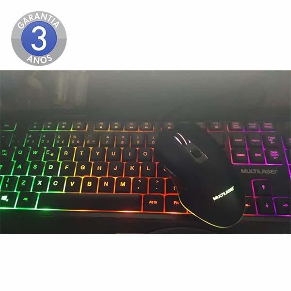 Kit Teclado E Mouse Gamer Com Led Multilaser Tc239