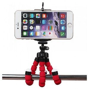 Mini tripé flexível para smartphone