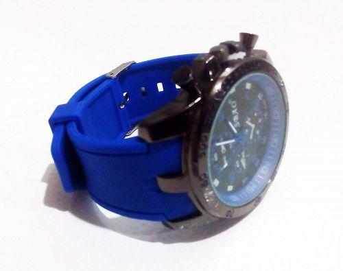 Relógio de pulso moderno quartzo esportivo de aço inoxidável