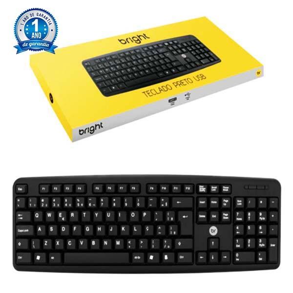 Teclado Bright USB ABNT2 Preto - 0014