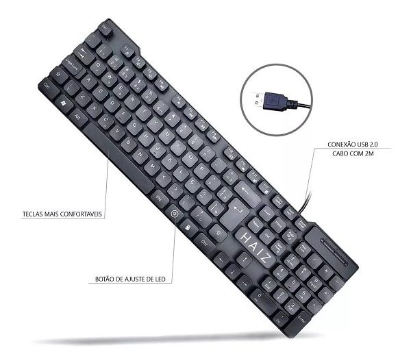 Teclado Gamer Luminoso Haiz MZ-110