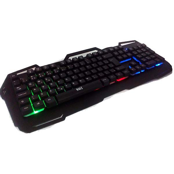 Teclado Gamer Luminoso Led Base Metal