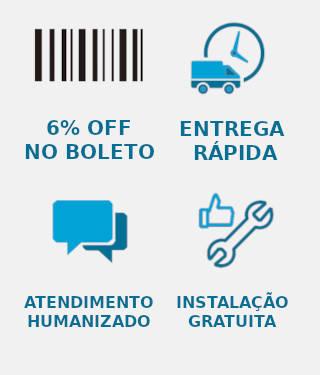 Entrega rápida, instalação gratuita e pagamento com desconto no boleto