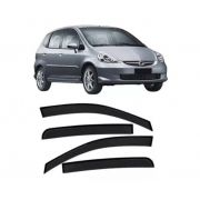 Calha de Chuva Honda Fit 2003 a 2008 4 Pts