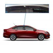 Calha De Chuva Chevrolet Onix Plus Com Escrita Em Alto Relevo