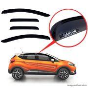Calha De Chuva Renault Captur Com Escrita Em Alto Relevo