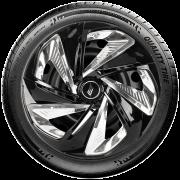 Calota aro 13 Elitte para Celta Gol Palio Uno. Mod. Universal Preta Cromada linha Nitro X  -  #E3911