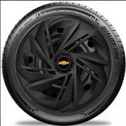 Calota Celta Corsa Aro 13 Preta Fosco Chevrolet #Lc213