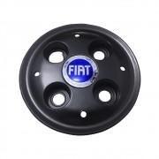 Calota Centro Miolo De Roda Fiat Strada 2000 Preta Fosca