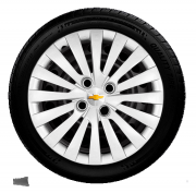 Calota Corsa Prisma Celta Onix Aro 14 Prata Gm G117