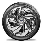 Calota Cromada Jogo 4pçs Fiesta Ford Ka Aro 13 Ford E3812j