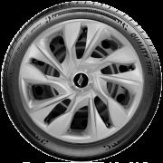 Calota Elitte para Sandero Gol Fox Logan Onix... Aro 15 Mod. Universal DS4 Prata linha Unicolor  -  #LC360
