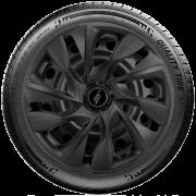 Calota Elitte para Sandero Gol Fox Logan Onix... Aro 15 Mod. Universal DS4 Preta  Fosca linha Unicolor  -  #LC363