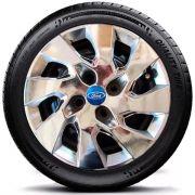 Calota Esportiva Cromada Ford Fiesta Sedan Aro 14 #G133ch