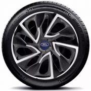 Calota aro 13 Preta Detalhe Prata Ford Ka Escort  E3016