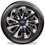 Calota Preto Cromada Ford Fiesta Ká Focus Aro 13 E3711