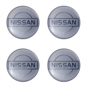 Emblemas Resinado Nissan Prata