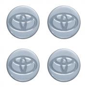 Emblemas Resinado Toyota Prata