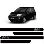Friso Lateral Personalizado Para Fiat Uno Attractive Vivace - Todas As Cores