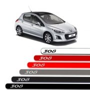 Friso Lateral Personalizado Para Peugeot 308  - Todas As Cores