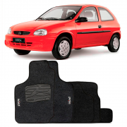 Jogo de Tapete Carpete para Chevrolet Corsa Wind - Grafite -