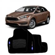 Jogo de Tapete Carpete para Ford Focus 2014 a 2015 - Preto