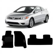 Jogo de Tapete Carpete para Honda Civic SI - Preto -
