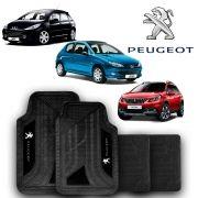 Jogo de Tapete Carpete Universal Peugeot 206 207 208 - Preto