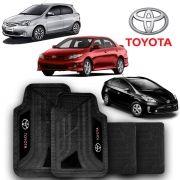 Jogo de Tapete Carpete Universal Toyota Corolla Etios - Preto