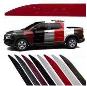Jogo Friso Lateral Pintado Fiat Toro - Logo Baixo Relevo