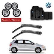 Kit Volkswagen: Jogo de Calotas Aro 13 + Jogo de Tapetes + Par de Palhetas - Gol, Voyage, Saveiro e outros - G115j