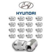 Porca de Roda Cromada Hyundai HB20 HB20s 16 Peças