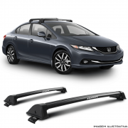 Rack De Teto New Wave Eqmax Honda Civic 2013 a 2016