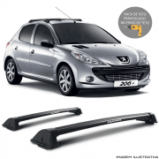 Rack De Teto New Wave Eqmax Peugeot 206 Hatch 1999 a 2010