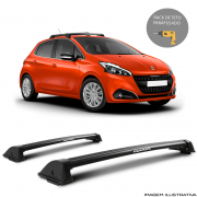 Rack De Teto New Wave Eqmax Peugeot 208 2015 a 2018