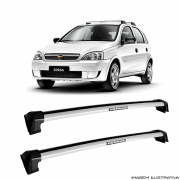 Rack De Teto Prata Wave Eqmax Chevrolet Gm Corsa 2002 a 2014  a