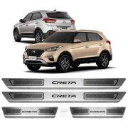 Soleira Aço Inox Escovado Anti-risco Hyundai Creta2017 2018 2019 2020