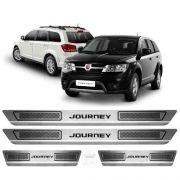Soleira Aço Inox Escovado Anti-risco Dodge Journey 2014 a  19