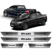 Soleira Aço Inox Escovado Anti-risco Fiat Strada