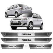 Soleira Aço Inox Escovado Anti-risco Ford Fiesta Rocam 2008 a 2013