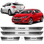 Soleira De Aço Inox Escovado Anti-risco Chevrolet Cruze