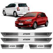 Soleira De Aço Inox Escovado Anti-risco Etios Toyota