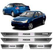 Soleira De Aço Inox Escovado Anti-risco Ford Focus 2009 a 2013