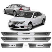 Soleira De Aço Inox Escovado Anti-risco Ford Fusion 2006 a 2012