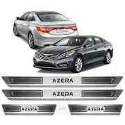 Soleira De Aço Inox Escovado Anti-risco Hyundai Azera