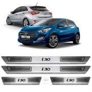 Soleira De Aço Inox Escovado Anti-risco Hyundai I30