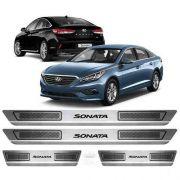 Soleira De Aço Inox Escovado Anti-risco Hyundai Sonata