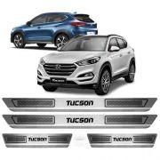 Soleira De Aço Inox Escovado Anti-risco Hyundai Tucson